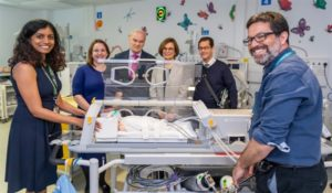 Generous funding has enabled the hospital to buy a £316,000 special MRI incubator allowing premature babies and babies at high-risk of brain injury to be scanned sooner.