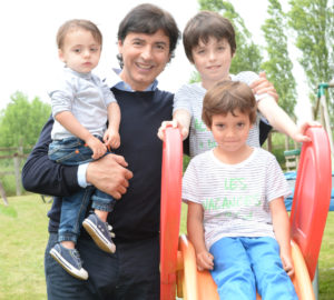 Jean-Christophe Novelli and his 3 sons