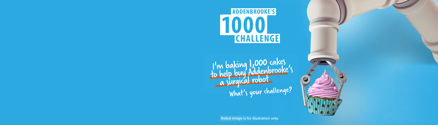 Take part in Addenbrooke's Charitable Trust's 1000 challenge to raise £1.5 for a surgical robot